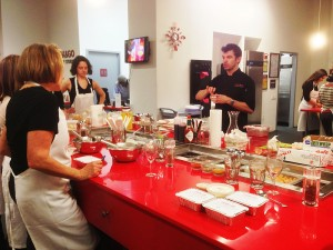Chef Wilson Johnson teaches cooking in French at Cook & Go